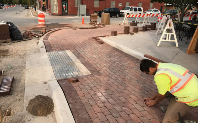 Michigan Pavers Beluah City Streetscape Beautification Project