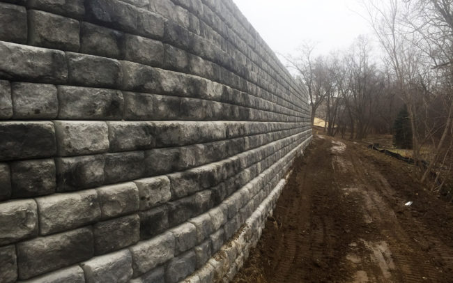 Ralph Wilson Insurance Building Retaining Wall
