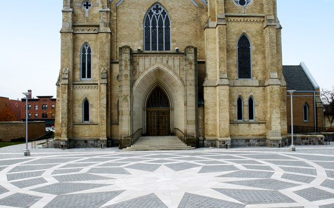 St. Andrews Cathedral Paver Installation